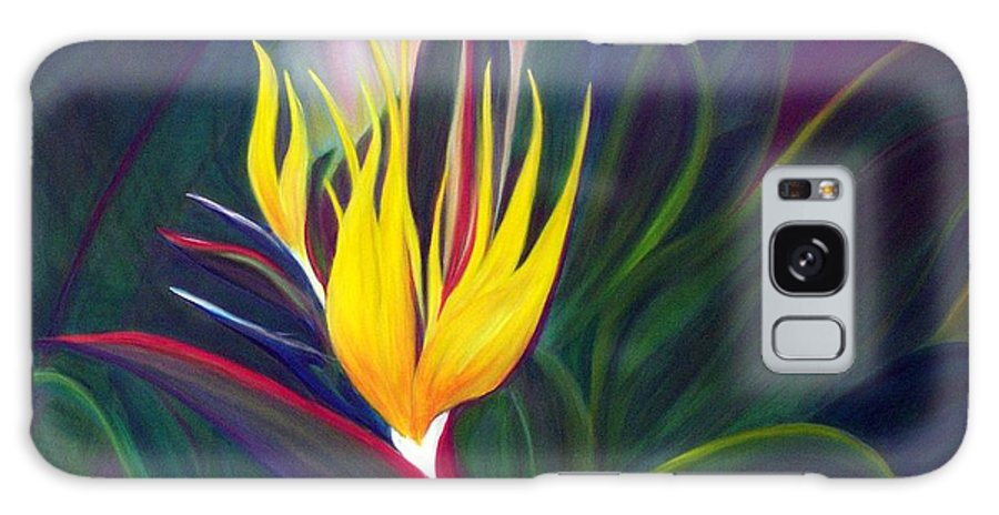 Bird Of Paradise Galaxy S8 Case featuring the painting Bird Of Paradise by Dina Holland