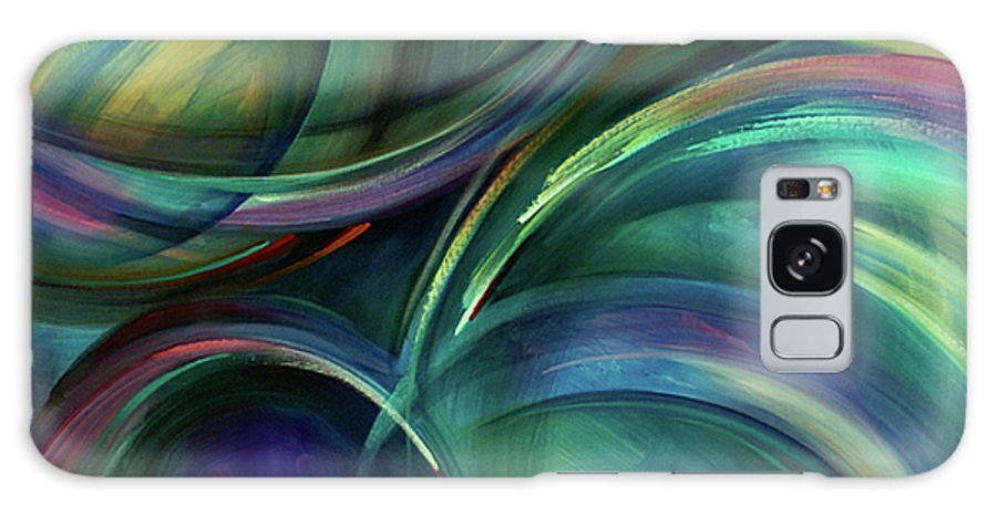 Abstract Design Galaxy S8 Case featuring the painting Flight by Michael Lang