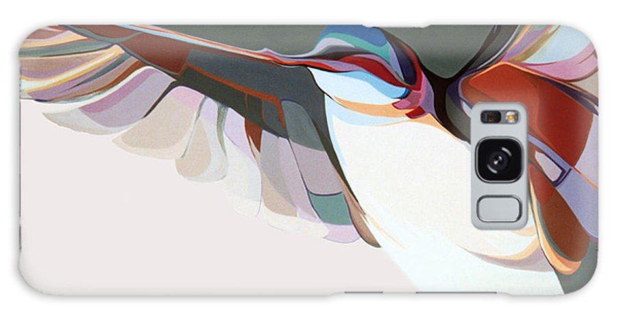 Abstract Galaxy S8 Case featuring the painting Flight Of Fancy by Marlene Burns