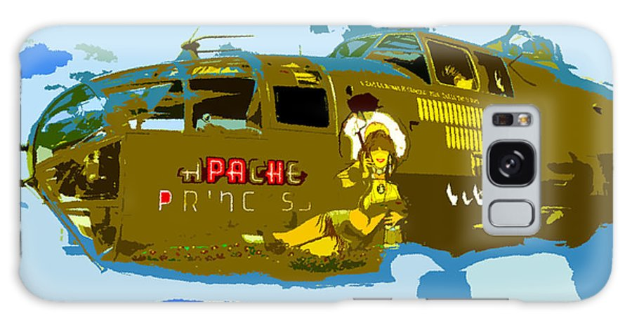 Bomber Galaxy S8 Case featuring the painting Flight Of The Apache Princess by David Lee Thompson