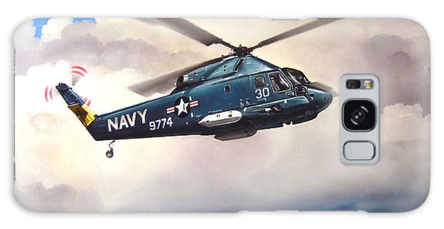 Military Galaxy Case featuring the painting Flight Of The Seasprite by Marc Stewart