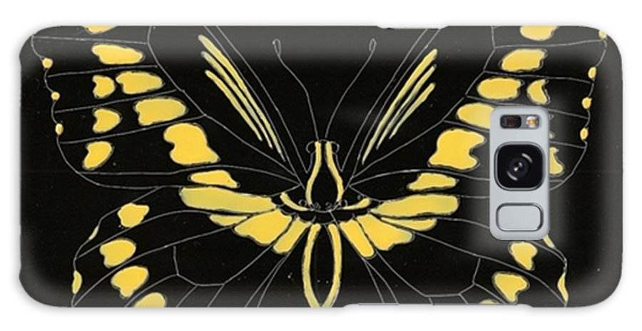 Butterfly Galaxy S8 Case featuring the painting Flight Series 11 Yellow Tail by Iamthebetty Tbone