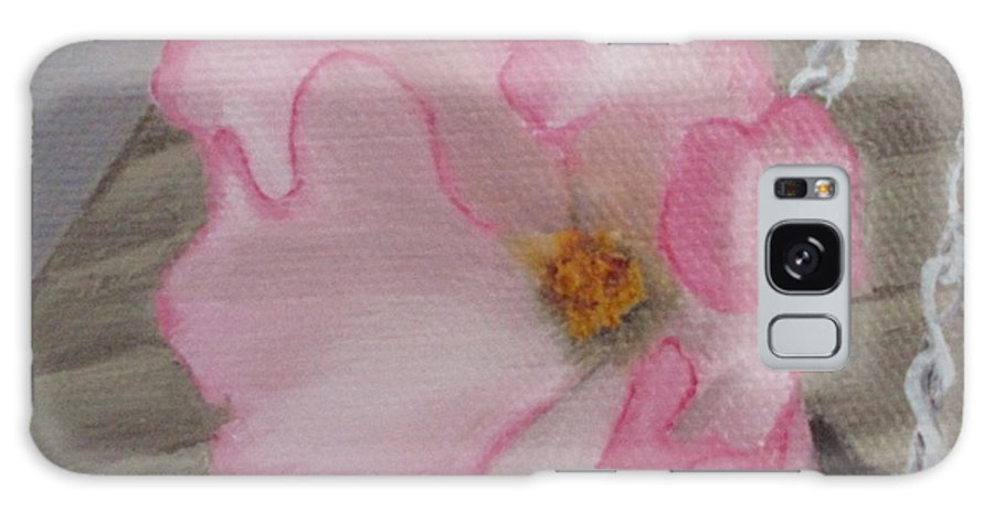 Flower Galaxy Case featuring the painting Flirty Begonia by Lea Novak