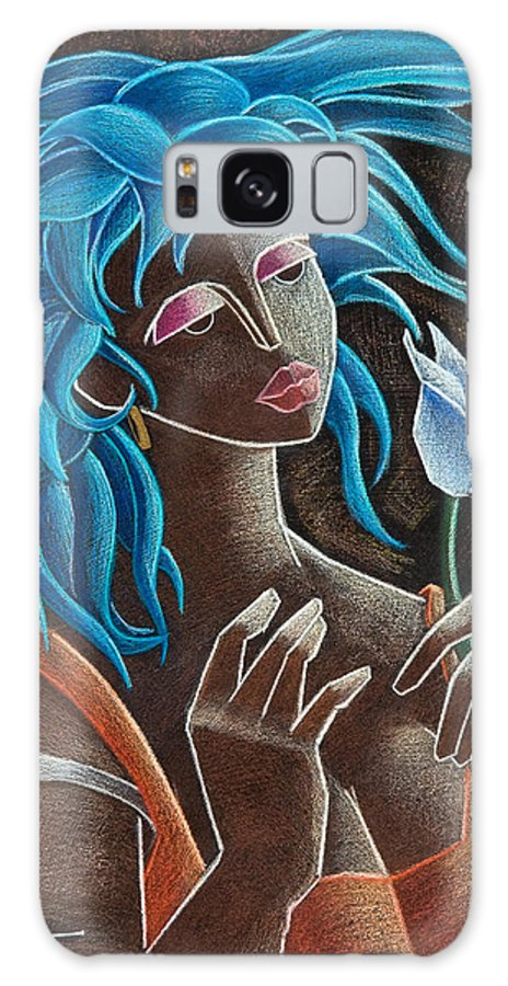 Puerto Rico Galaxy S8 Case featuring the painting Flor Y Viento by Oscar Ortiz