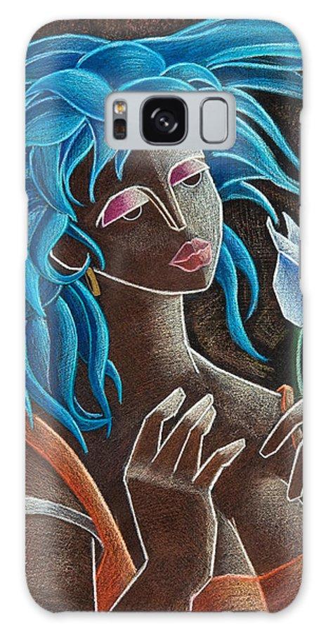 Puerto Rico Galaxy S8 Case featuring the painting Flor Y Viento by Oscar Ortiz