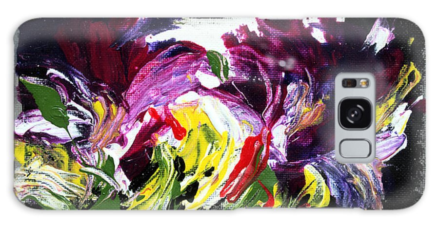 Abstract Galaxy Case featuring the painting Floral Flow by Mario Zampedroni