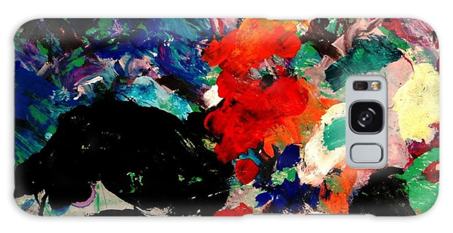 Abstract Galaxy S8 Case featuring the painting Floral Garden by Natalie Holland