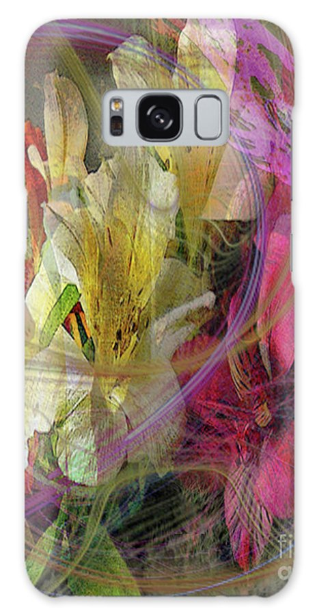 Floral Inspiration Galaxy Case featuring the digital art Floral Inspiration by John Beck