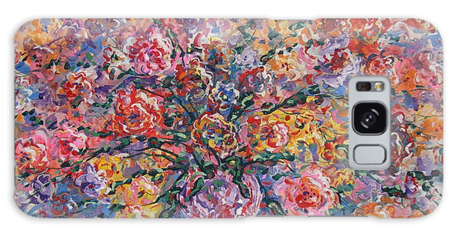 Painting Galaxy Case featuring the painting Floral Melody by Leonard Holland