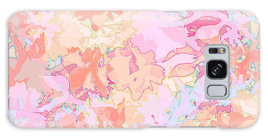 Abstract Galaxy S8 Case featuring the digital art Floral Menagerie by Rachel Christine Nowicki