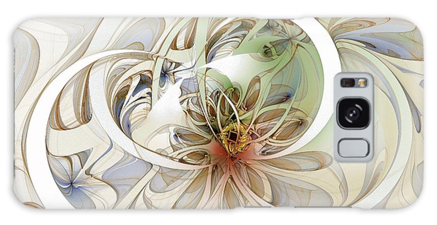 Digital Art Galaxy S8 Case featuring the digital art Floral Swirls by Amanda Moore