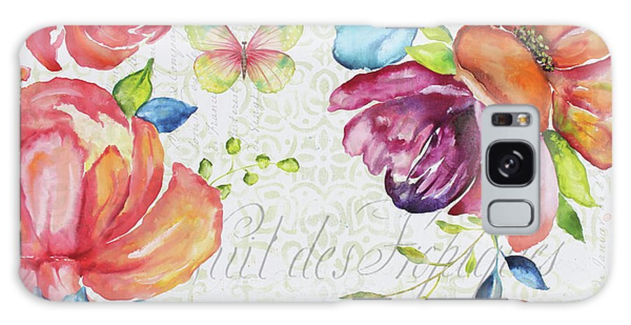Floral Galaxy Case featuring the painting Floral Symphonie by Jean Plout