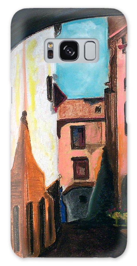 Pastel Galaxy Case featuring the drawing Florence Cove by Patricia Arroyo