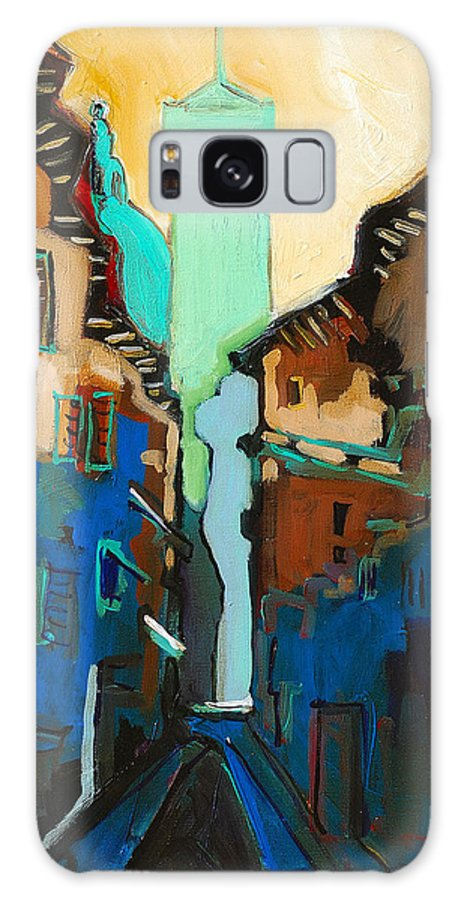 Florence Galaxy Case featuring the painting Florence Street Study by Kurt Hausmann