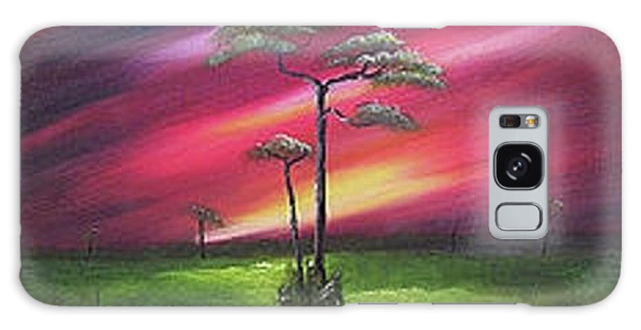 Cliffs Galaxy S8 Case featuring the painting Florida Sunset by John Johnson