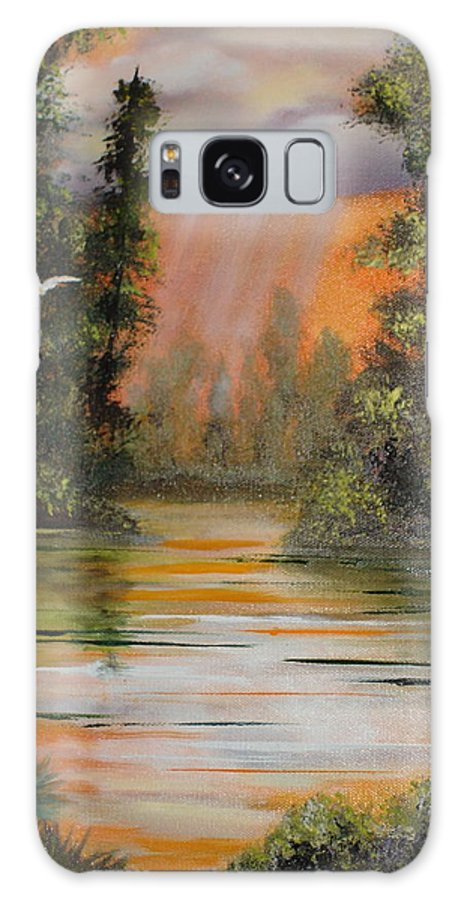 Landscape Galaxy Case featuring the painting Florida Thunderstorm by Susan Kubes