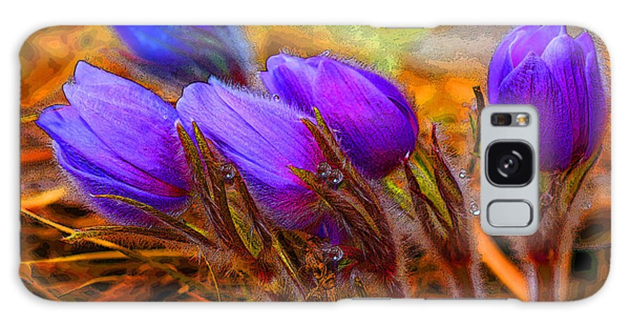 Flowers Galaxy S8 Case featuring the photograph Flourescent Flowers by Heather Coen