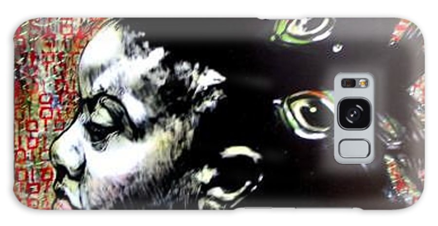 Galaxy Case featuring the mixed media Flow by Chester Elmore