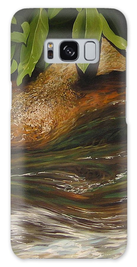 Colorado Mountain Stream Galaxy Case featuring the painting Flow by Hunter Jay