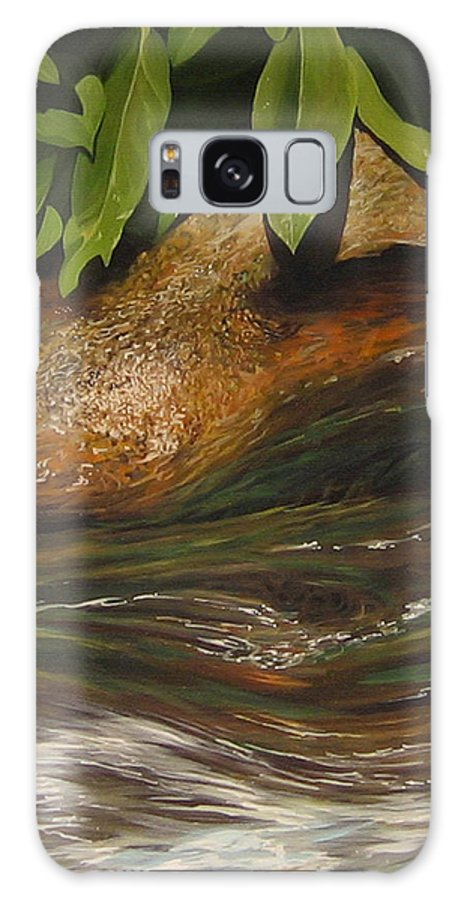 Colorado Mountain Stream Galaxy S8 Case featuring the painting Flow by Hunter Jay