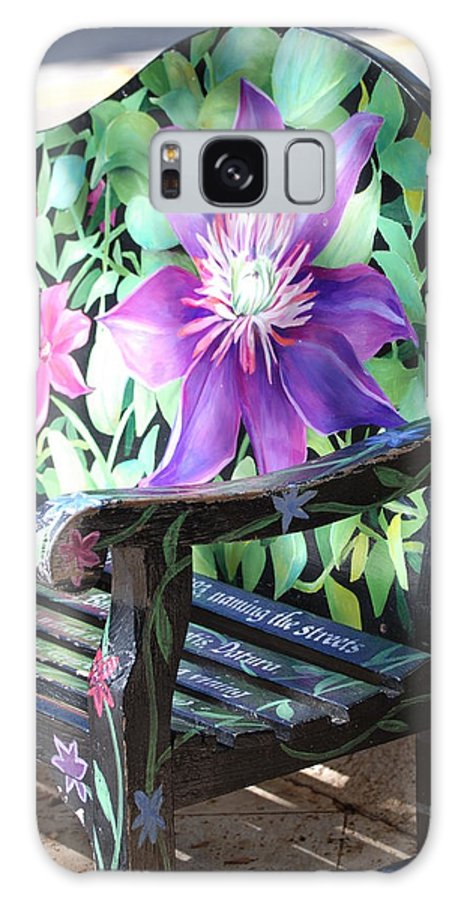 Macro Galaxy S8 Case featuring the photograph Flower Bench by Rob Hans