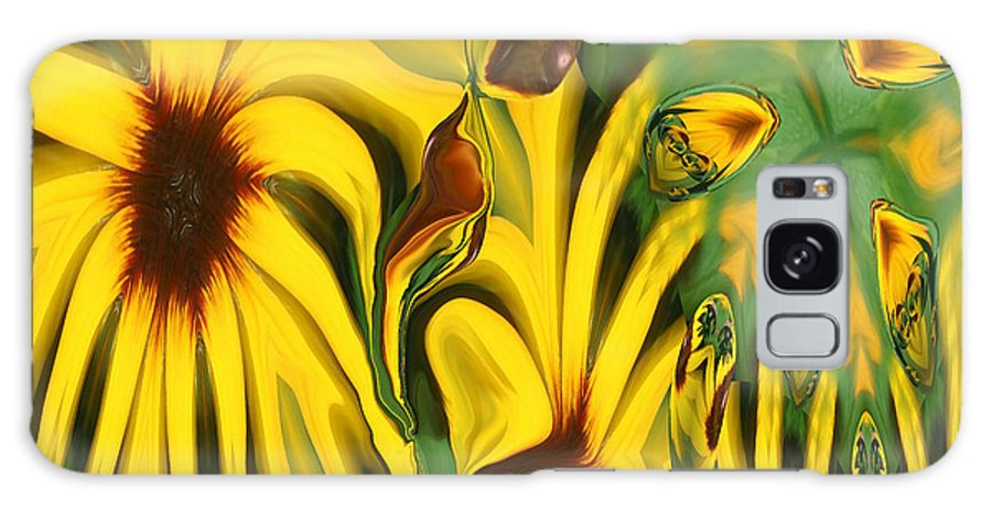 Abstract Galaxy S8 Case featuring the photograph Flower Fun by Linda Sannuti