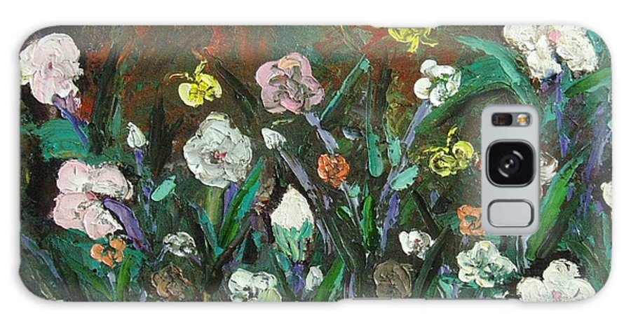 Abstract Paintings Galaxy S8 Case featuring the painting Flower Garden by Seon-Jeong Kim