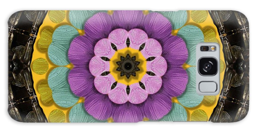 Flower Galaxy S8 Case featuring the mixed media Flower In Paradise by Pepita Selles