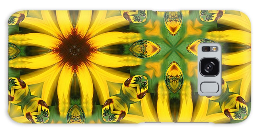 Flowers Galaxy S8 Case featuring the digital art Flower Pattern by Linda Sannuti