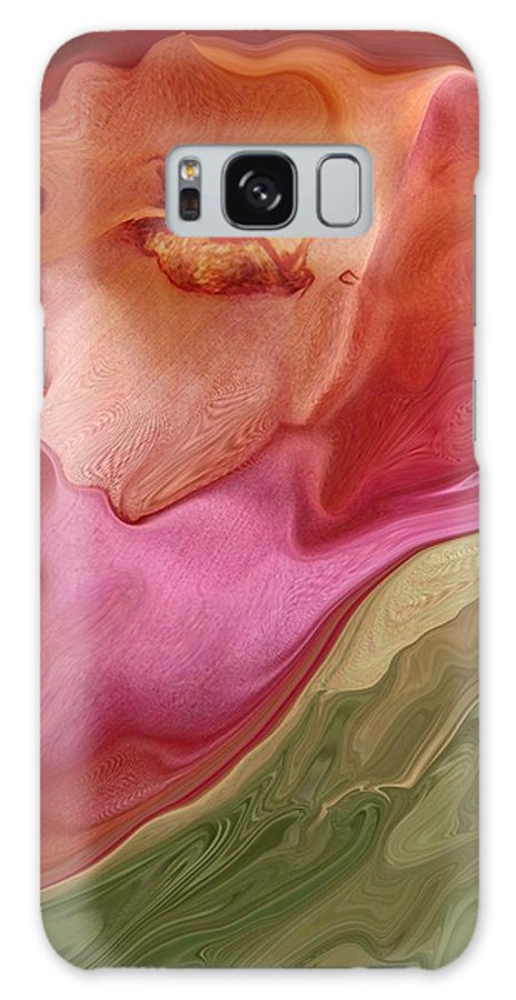 Contemporary Galaxy S8 Case featuring the digital art Flower Soft by Florene Welebny