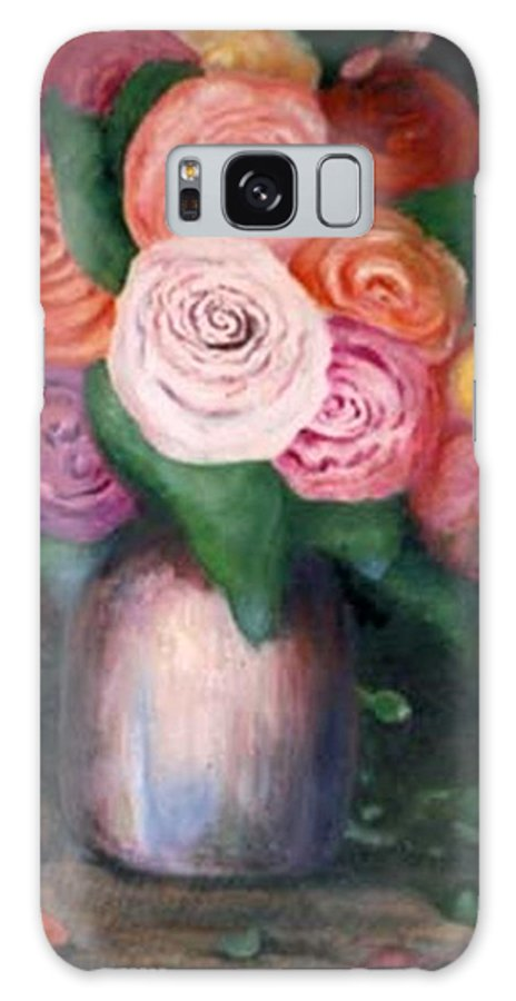 Flowers Galaxy S8 Case featuring the painting Flower Spirals by Jordana Sands