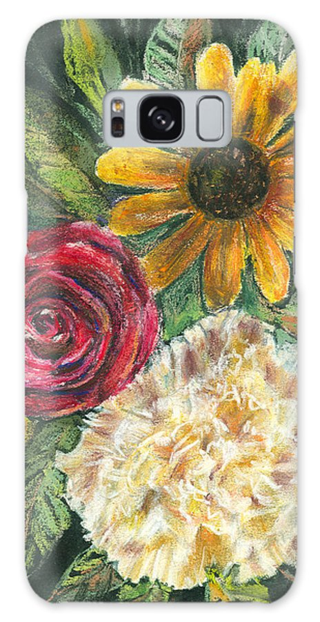 Flower Galaxy S8 Case featuring the pastel Flower Trio by Arline Wagner