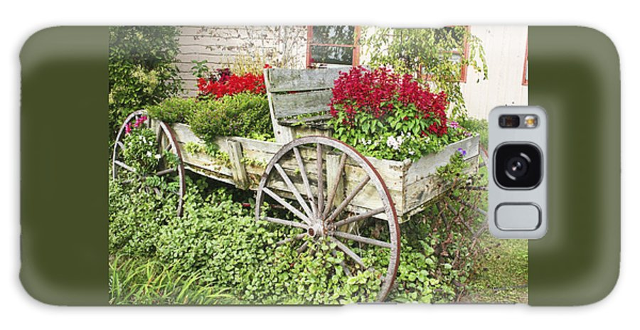 Wagon Galaxy S8 Case featuring the photograph Flower Wagon by Margie Wildblood