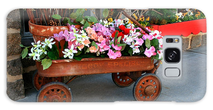 Wagon Galaxy S8 Case featuring the photograph Flower Wagon by Perry Webster