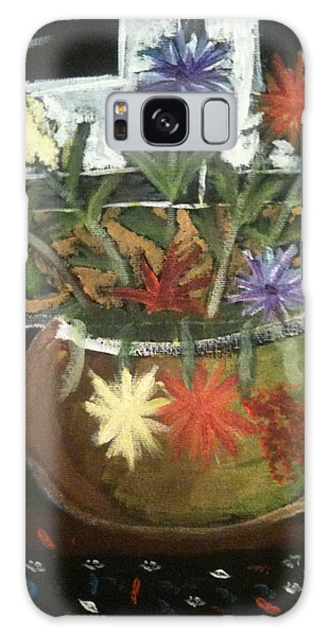 Autism Galaxy S8 Case featuring the painting Flowers by Artists With Autism Inc