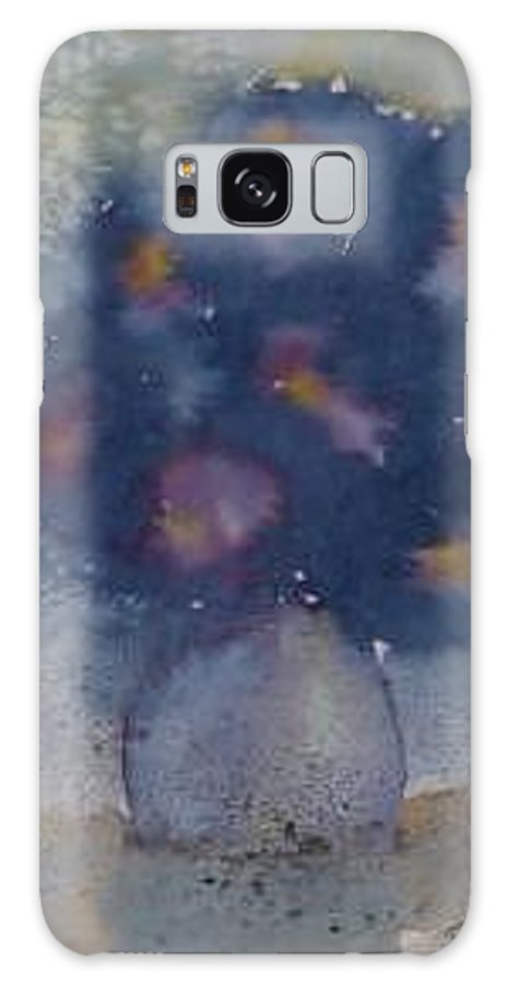 Watercolor Galaxy S8 Case featuring the painting Flowers At Night Original Abstract Gothic Surreal Art by Derek Mccrea