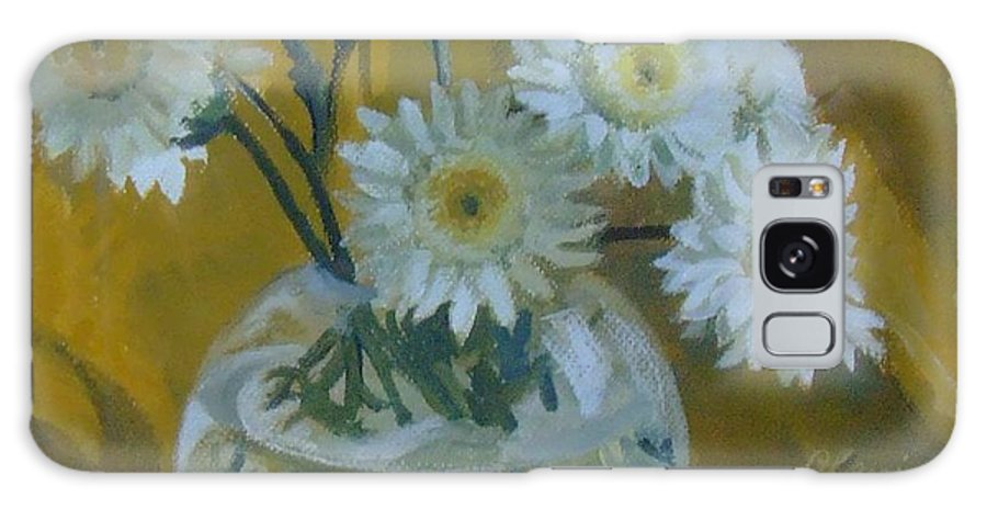 Still Life Galaxy Case featuring the painting Flowers by Elena Oleniuc