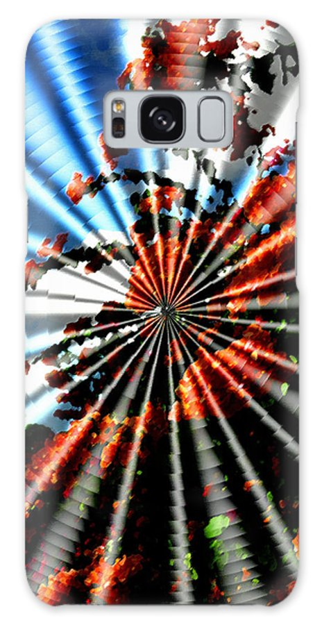 Abstractart Galaxy S8 Case featuring the photograph Flowers Fantasy Spin by Humphrey Janga