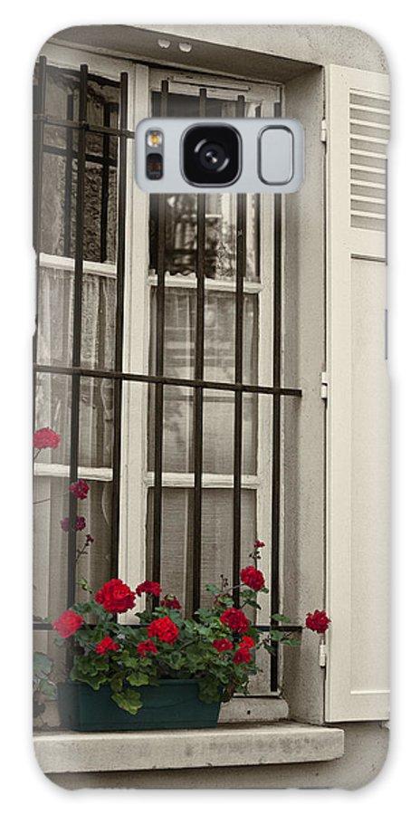 Paris Galaxy Case featuring the photograph Flowers in Paris windowbox by Sheila Smart Fine Art Photography
