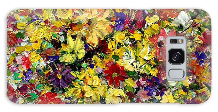 Flowers Galaxy S8 Case featuring the painting Flowers by Mario Zampedroni