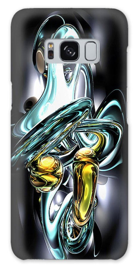 3d Galaxy S8 Case featuring the digital art Fluidity Abstract by Alexander Butler