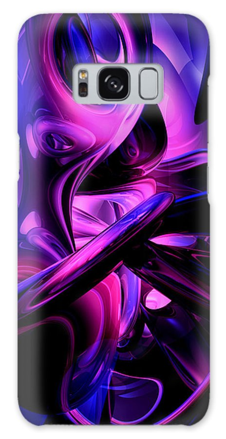 3d Galaxy S8 Case featuring the digital art Fluorescent Passions Abstract by Alexander Butler