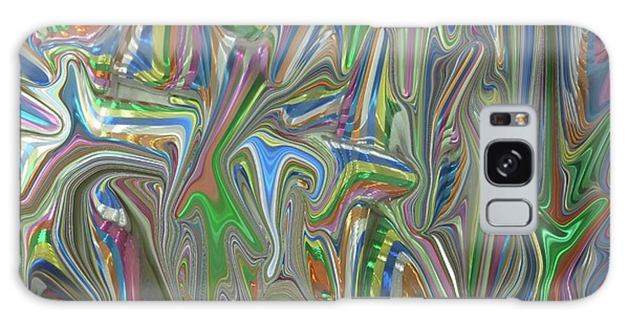 Abstract Galaxy S8 Case featuring the digital art Flurry by Florene Welebny
