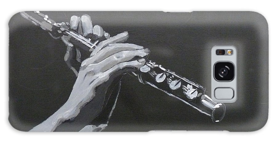 Flute Galaxy S8 Case featuring the painting Flute Hands by Richard Le Page