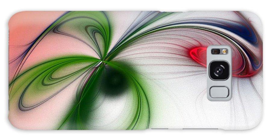 Digital Galaxy S8 Case featuring the digital art Flutter by Sandra Bauser Digital Art