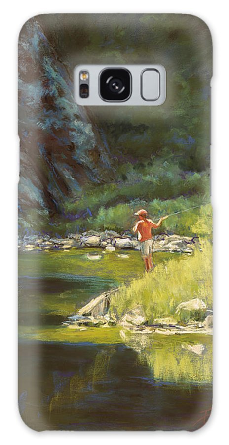 Fly Fisherman Galaxy S8 Case featuring the painting Fly Fishing by Billie Colson