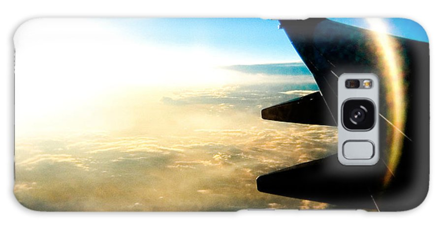 Plane Sky Sun Holga Color Photograph Galaxy Case featuring the photograph Fly Like A Dolphin by Olivier De Rycke