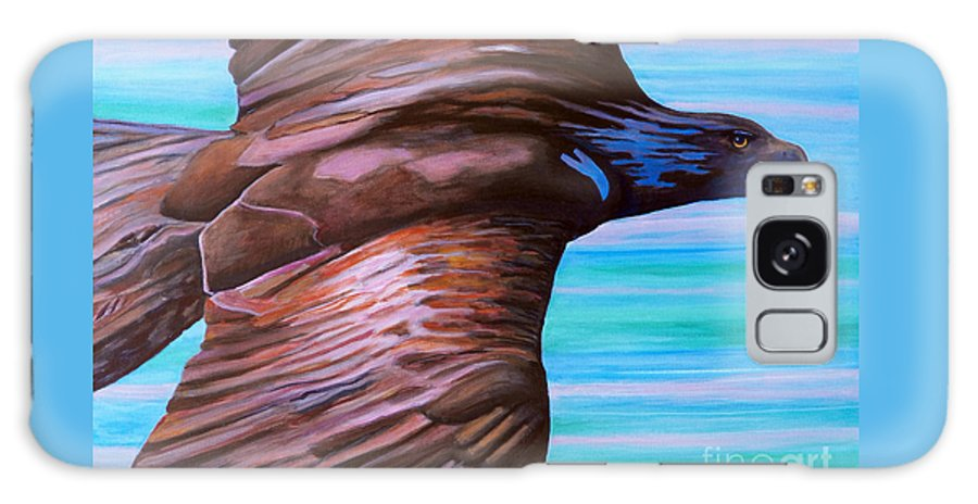 Eagle Galaxy Case featuring the painting Fly Like An Eagle by Brian Commerford