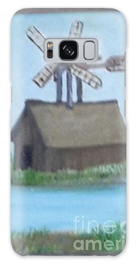 Foster Galaxy S8 Case featuring the painting Flying Barn by Cindy Riley