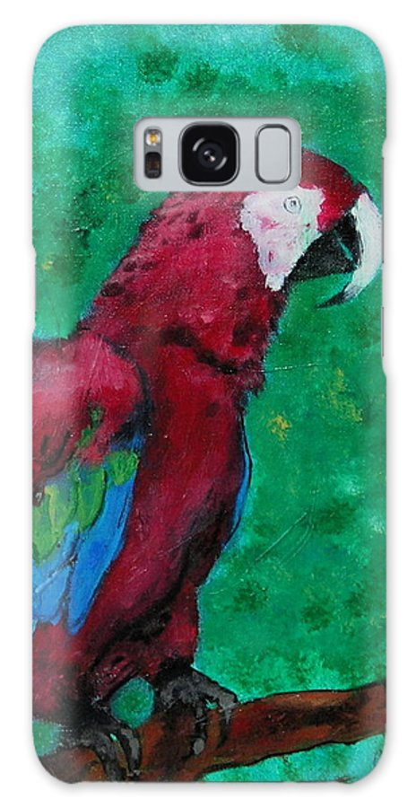Parrot Galaxy Case featuring the painting Flying Colors by Cori Solomon